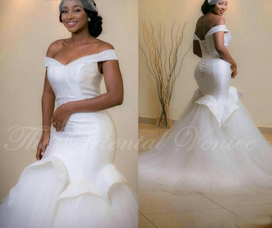 2017 Mermaid Font B African B Font Style Font B Wedding B Font Gowns Off The