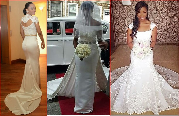 Nigerian Fashion Celebrity Wedding Gowns 2017