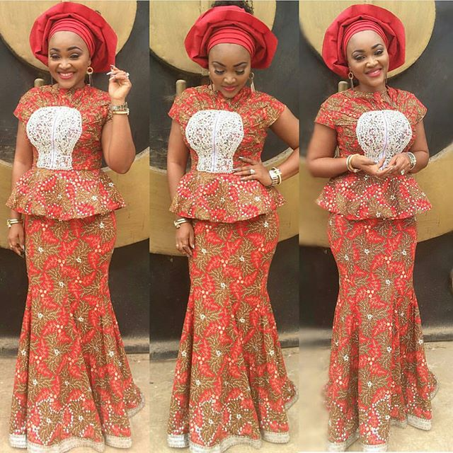Latest Ankara Styles For Traditional Wedding (9)