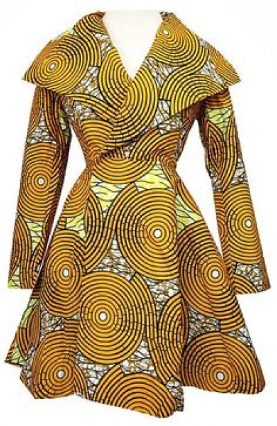 Ladies Latest Styling on African Ankara/Print: V15