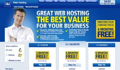 1&1 web hosting review with Latest discount offers