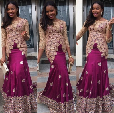 1198+ Photos of Nigerian styles with lace dresses in 2017