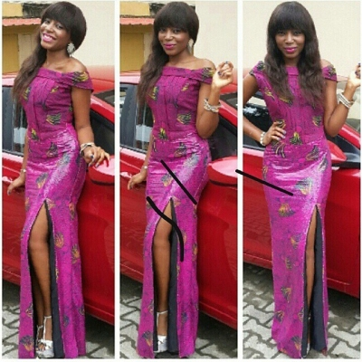 Ladies Latest Styling on African Ankara/Print: V7