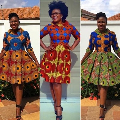 Selected latest styles with Ankara (PHOTOS)