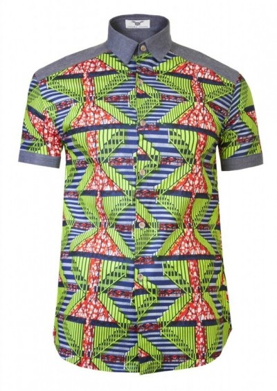 Latest Fashion for Men with African Print (MORE PHOTOS)