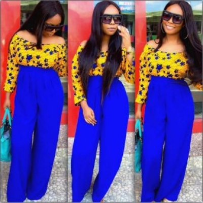 Ladies Latest Styling on African Ankara/Print: V2