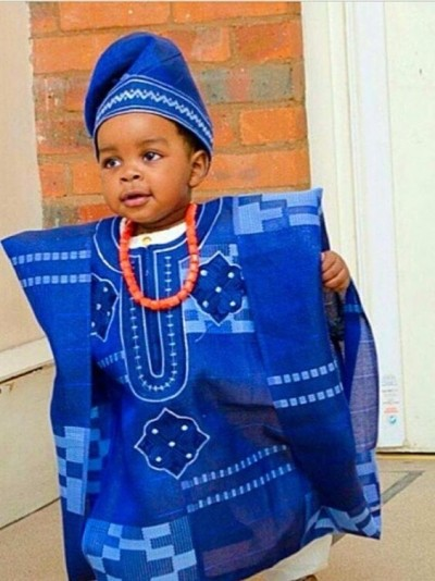 Trending Fashion for boy Kids with African Print (PHOTOS)